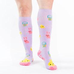 model wearing Hoppy Easter - Easter Knee High Socks - Women's