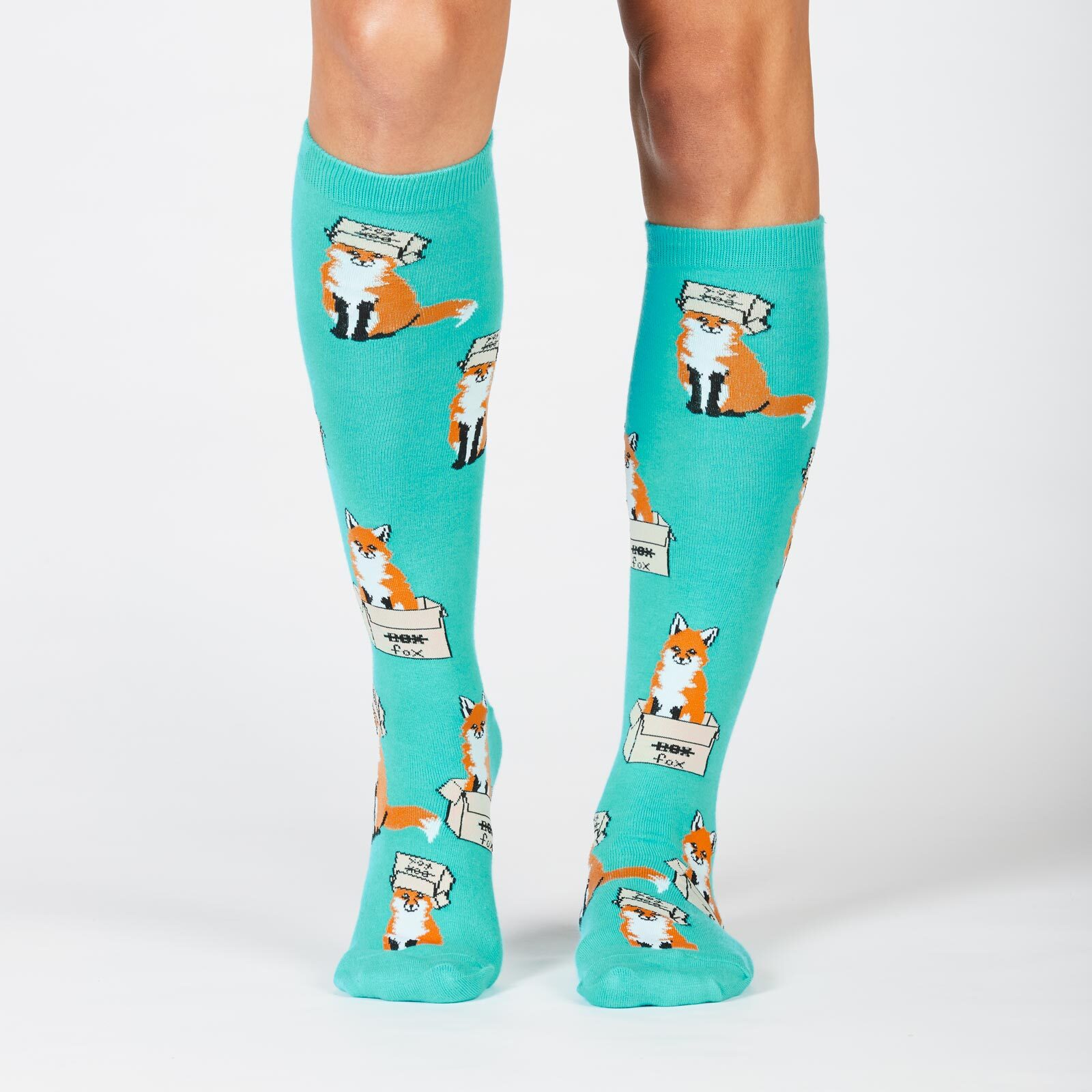 Junior Knee-High Socks Fox Socks Foxy Sock It To Me