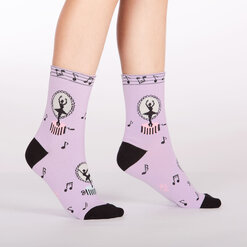 model side view of Tiny Dancer - Dancer Crew Socks Pink - Junior