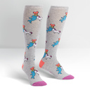 Great Horns Think Alike - Unicorn Narhwal Knee High Socks Grey - Women's in Grey