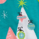 fabric detail of Holly Jolly Christmas - Christmas Holiday Decoration Knee High Socks Green - Women's