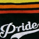 fabric detail of Team Pride - LGBTQ+ Pride Crew Socks Rainbow - Men's