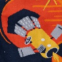 fabric detail of Fly Me to the Sun - 50th Anniversary Moon Landing Outer Space Satellite Planets Crew Socks Navy - Men's