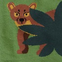 fabric detail of Madagascar Menagerie- Animals of Madagascar Africa Crew Socks Green - Men's