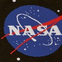 fabric detail of Solar System - 50th Anniversary Moon Landing NASA Outer Space Planets Crew Socks Black - Men's