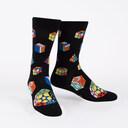 Puzzle Box Socks - Game Lover Crew Socks Black - Men's in Black