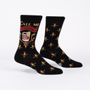 Call Me Old Fashioned - Cocktail Lover Crew Socks Black - Men's in Black