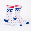 American Pi - Collegiate Math Crew Socks White - Men's in White