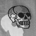 fabric detail of STRETCH-IT™ Head Over Heel - Wide Calf - Human Anatomy Knee High Socks Grey - Unisex