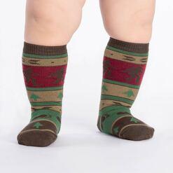 model wearing Big Foot Sweater - Sasquatch Knee High Socks - Toddler