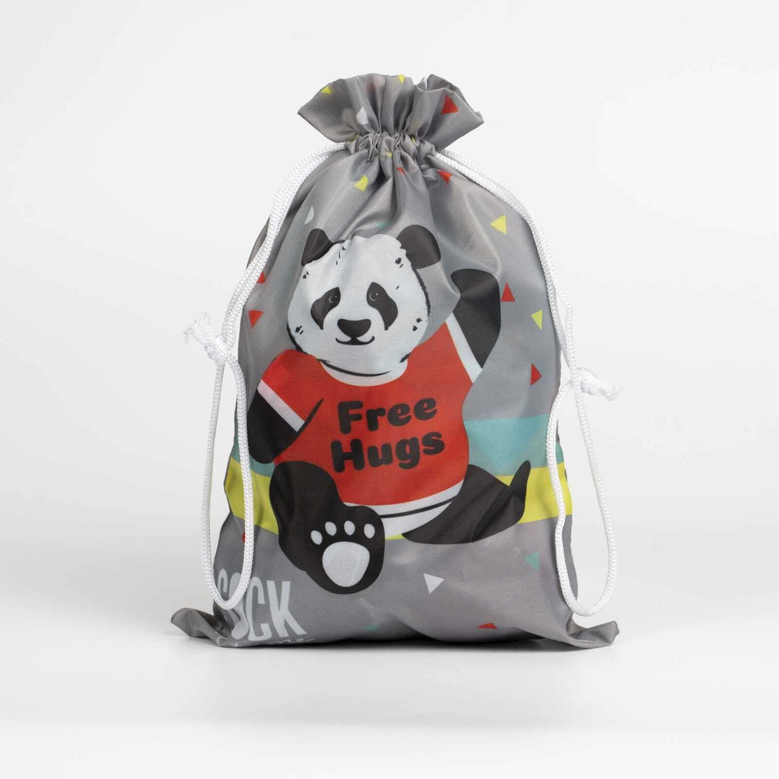 Panda Bear Hug - Cute Animal Grey Gift Bag - Sock It to Me in Grey