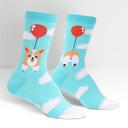 Pup, Pup, and Away Corgi Knee High Socks Blue - Women's in Blue