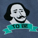 fabric detail of To Be, or Not to Be - Shakespeare Thespian Crew Socks Grey - Women's