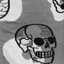 fabric detail of Head Over Heel - Human Anatomy Crew Socks Grey - Women's