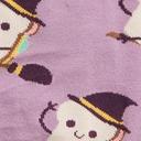 fabric detail of Sandwitch - Sandwich Witch Halloween Crew Socks Purple - Women's