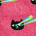 fabric detail of Pew! Pew! - Sparkling Shimmer Lazer Cat Eyes Socks Pink - Women's