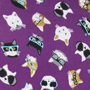 fabric detail of Smarty Cats - Cat Hipster Underwear Purple - Sizes XS-3XL