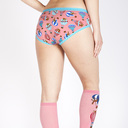 model rear view of Hang In There - Sloth Hipster Underwear Pink - Sizes XS-3XL