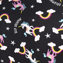 fabric detail of Keep Dreamin' - Unicorn Hipster Underwear Black - Sizes XS-3XL