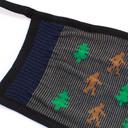 fabric detail of Maskquatch - Sasquatch Forest Face Masks Blue - Unisex