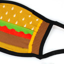 fabric detail of Mouthful - Delicious Burger Face Masks Brown - Unisex