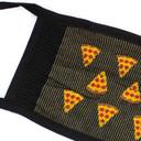 fabric detail of Slice of Life - Pepperoni Pizza Face Masks Black - Unisex
