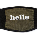 fabric detail of You Had Me at Hello - Statement Face Masks Black - Unisex