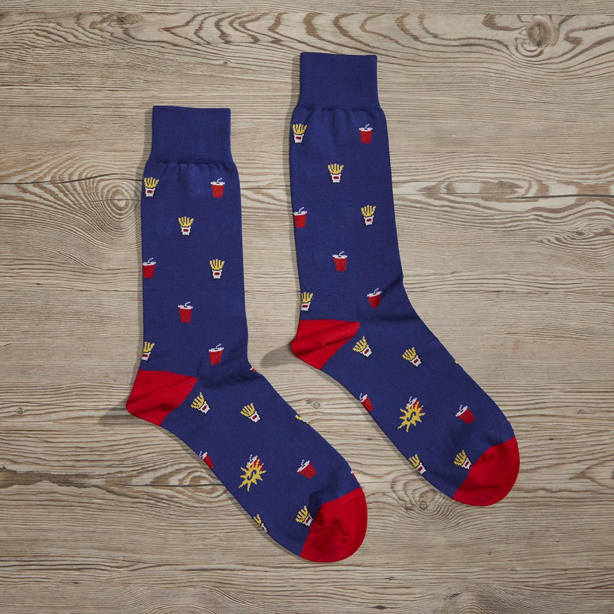 Luxe Make It A Combo Men's Dress Socks | Size: 7-13 | Black in Red
