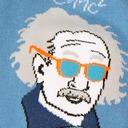 fabric detail of Relatively Cool - Einstein Knee High Socks Blue - Men's
