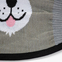 fabric detail of Furry Sidekick - Cute Animal Face Masks Grey - Unisex