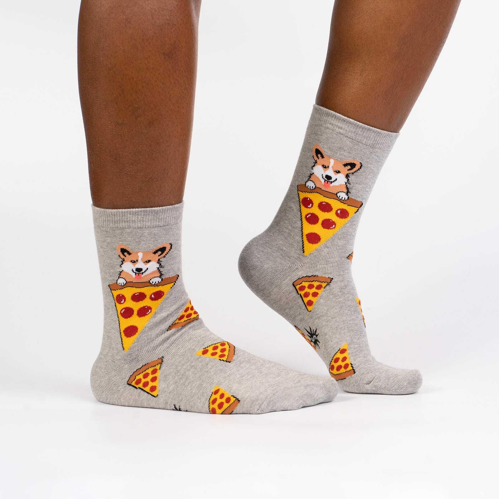 model wearing Best Friends Women's Crew Socks