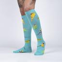model wearing Pretty Birds - Adorable Animal Knee Socks - Women's