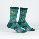 Plant Mom - Adorable Plant Crew Socks - Women's in Green