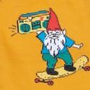 fabric detail of Gnarly Gnome - Funny Skateboard Crew Socks - Men's