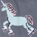 fabric detail of Rolling With My Ponies - Skating Unicorn Knee Socks - Women's