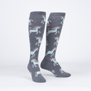 Rolling With My Ponies - Skating Unicorn Knee Socks - Women's in Grey
