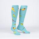 Pretty Birds - Adorable Animal Knee Socks - Women's in Turquoise
