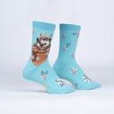 My Dear Hedgehog - Adorable Animal Crew Socks - Women's in Turquoise